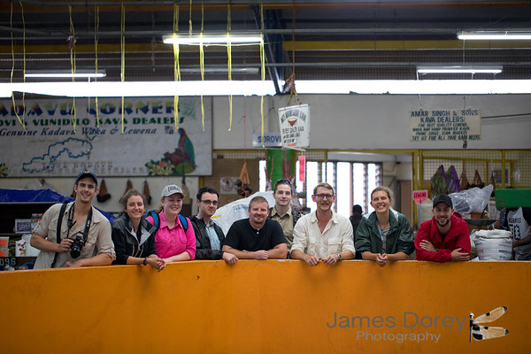Group shot at Suva markets