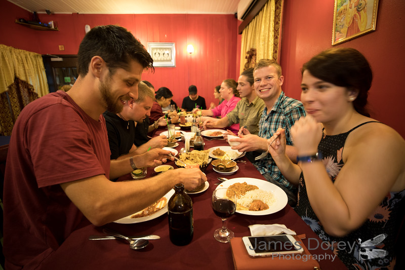 Eating out - group shot