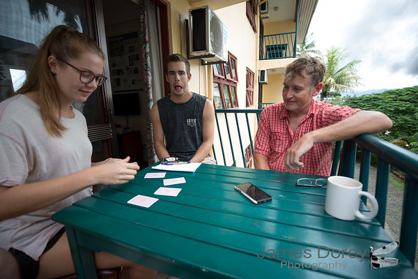 Cards with Annie, Cale and Mark