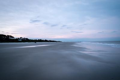 Dark Beach Sunrise