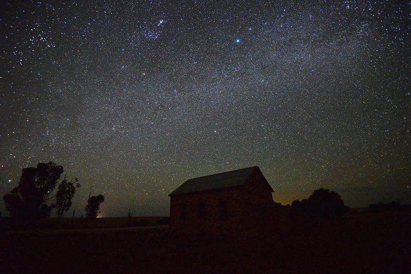 Bugle Hut by night