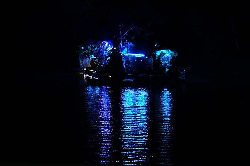 Frank Turtons boat at night
