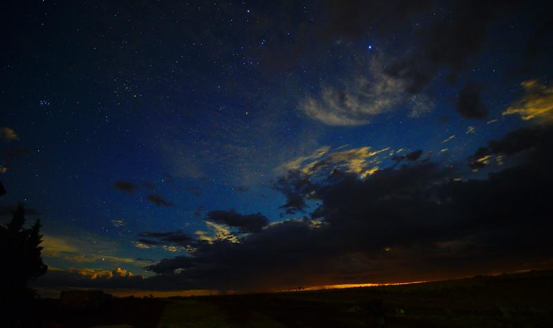 Night clouds over Paringa