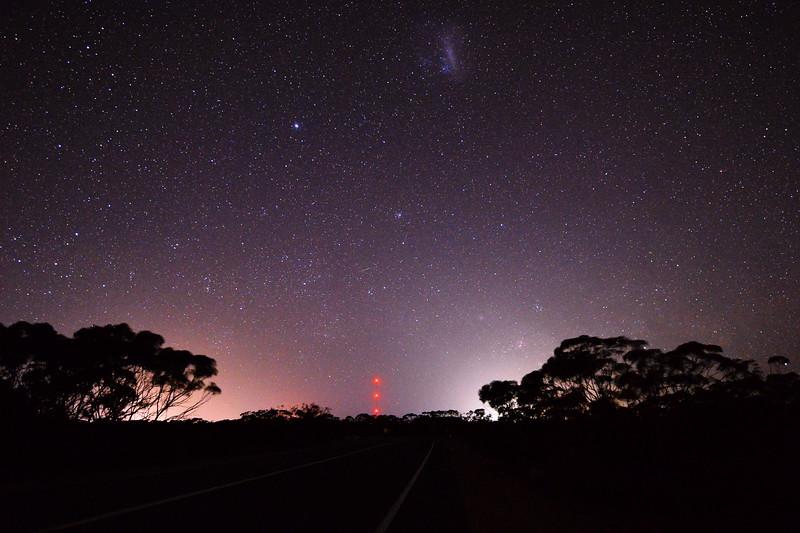 Night sky near Berri