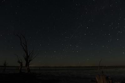 Meteorite over Lake Woolpolool (or maybe not ?)