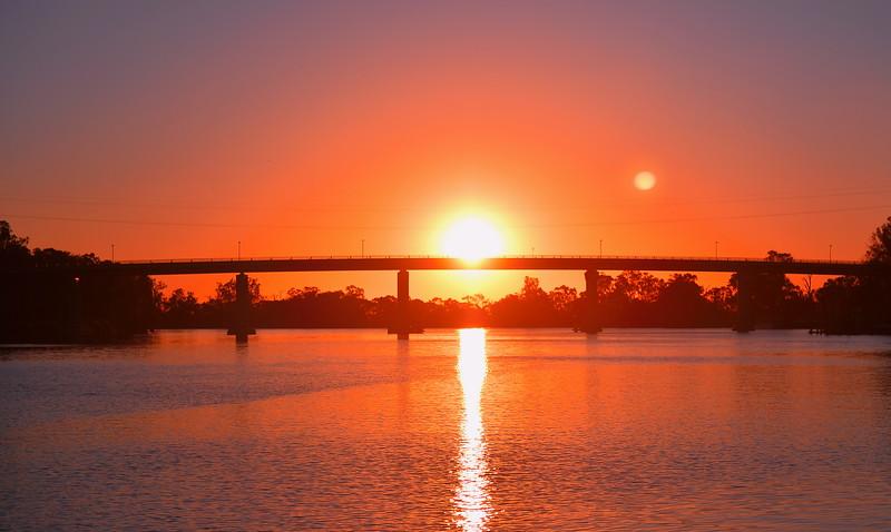 Berri Bridge sunset