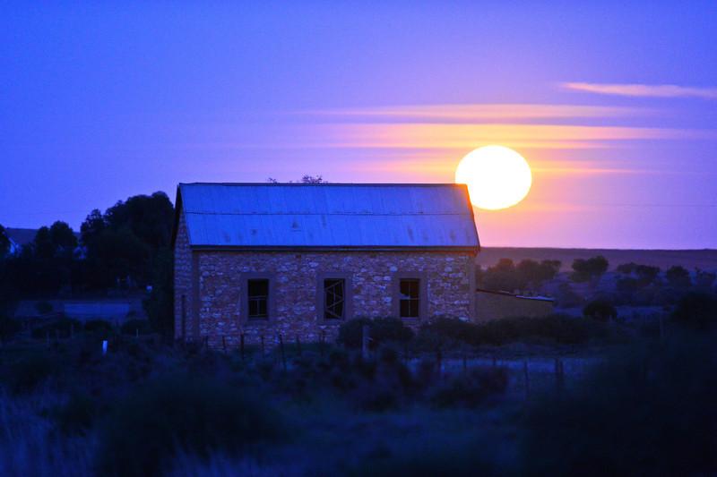 Bugle Hut full moon