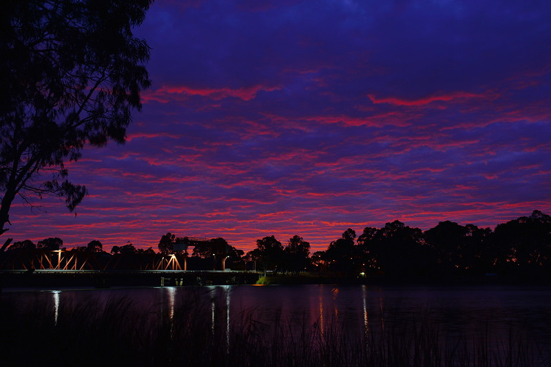 Sunrise over Paringa Bridge