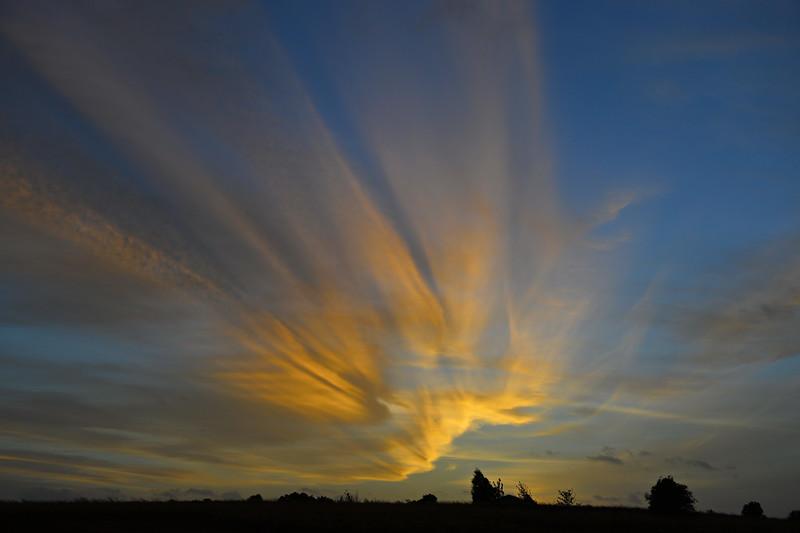 Sunrise wind clouds