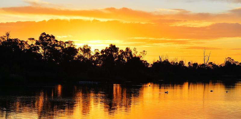 Sunset over the Lock 5 sandbar