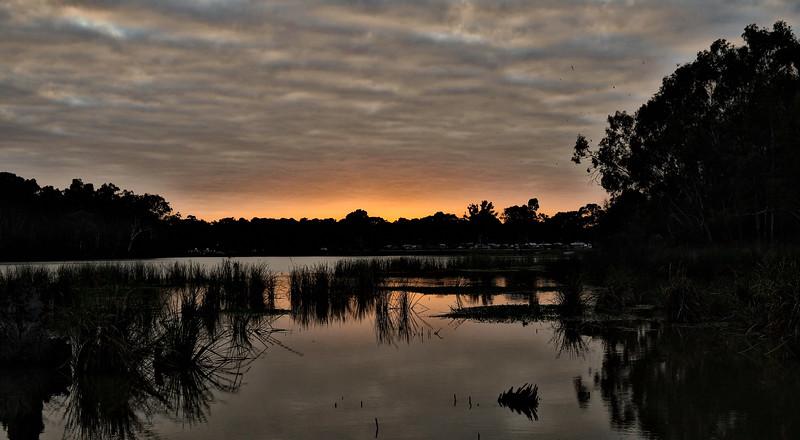 Sunrise at the Big4 Caravan Park