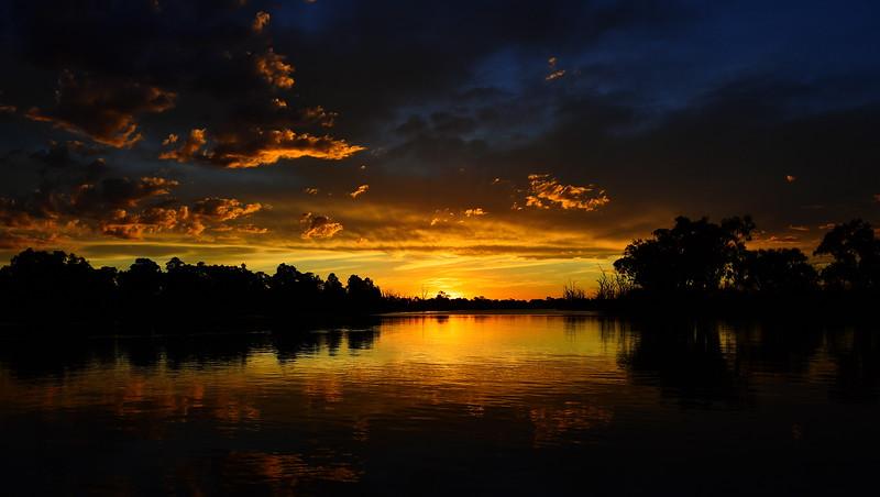 Sunset gold over the sandbar
