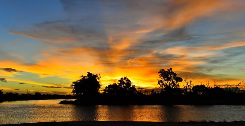 Sandbar sunset