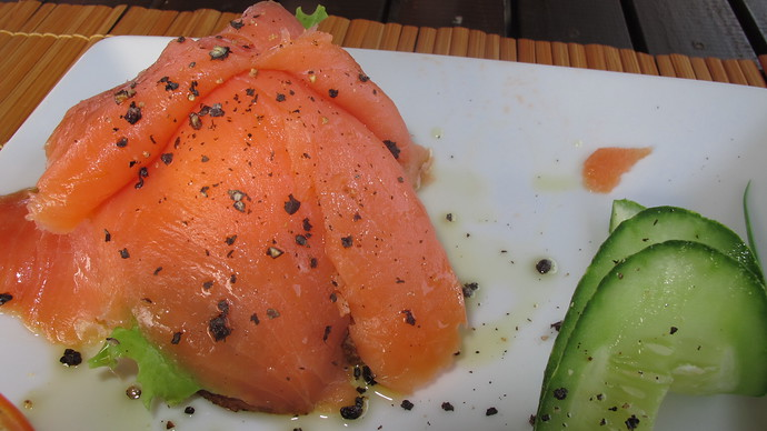 Fresh Salmon at Noon Restaurant
