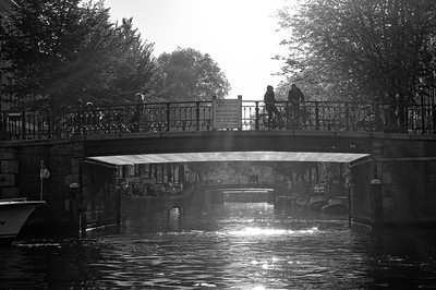 Bridge #93 on a late afternoon in October (b/w)