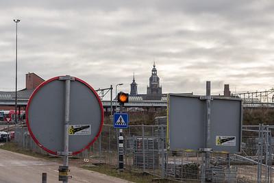 Opslagterrein Heijmans en torens