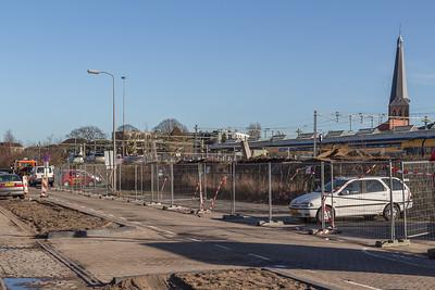 De voormalige parkeerplaatsen