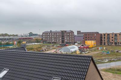 Het uitzicht vanuit het appartementengebouw