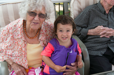 This is a photo of Grandma Sally Tharp and Nora cain