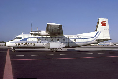 Skyways (Air Midwest Skyways) Nord 262A-30 N275A (msn 37) MIA (Bruce Drum). Image: 105192.