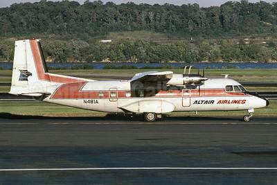 Altair Airlines Nord 262A-21 N481A (msn 025) DCA (Richard Vandervord). Image: 902517.