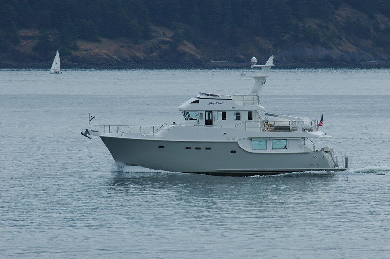 """2008 Nordhavn 55'.... """"Gray Pearl""""...photographed off the Anacortes waterfront 6/20/2009<br /> <br /> N55 Gray Pearl...Friday Harbor Washington"""