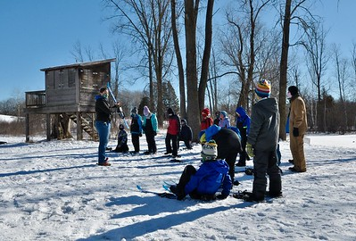 The sun came out and the fun came out yesterday as students of The Riveredge School learned and practiced to cross country ski at Riveredge Nature Center!
