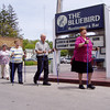Nordic Walking at Leland's famous Bluebird durning a senior lunch program for 100 energetic seniors