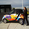 Nordic Walking and the SMART Car - burn less gas driving and burn more calories walking