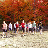 Nordic Walking during fall color season