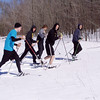 Glen Lake Track and Field Athletes Turn To Nordic Waling and Nordic Walking after an April snowstorm buries the track