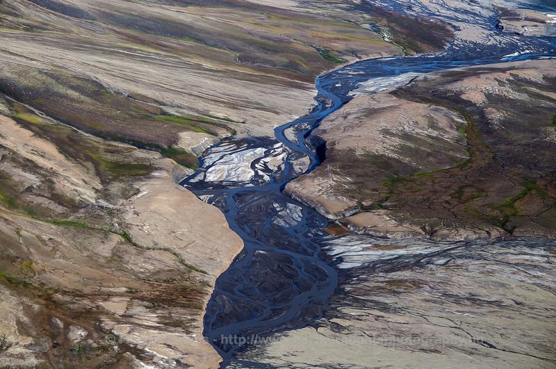 River Delta Landscape, Svalbard