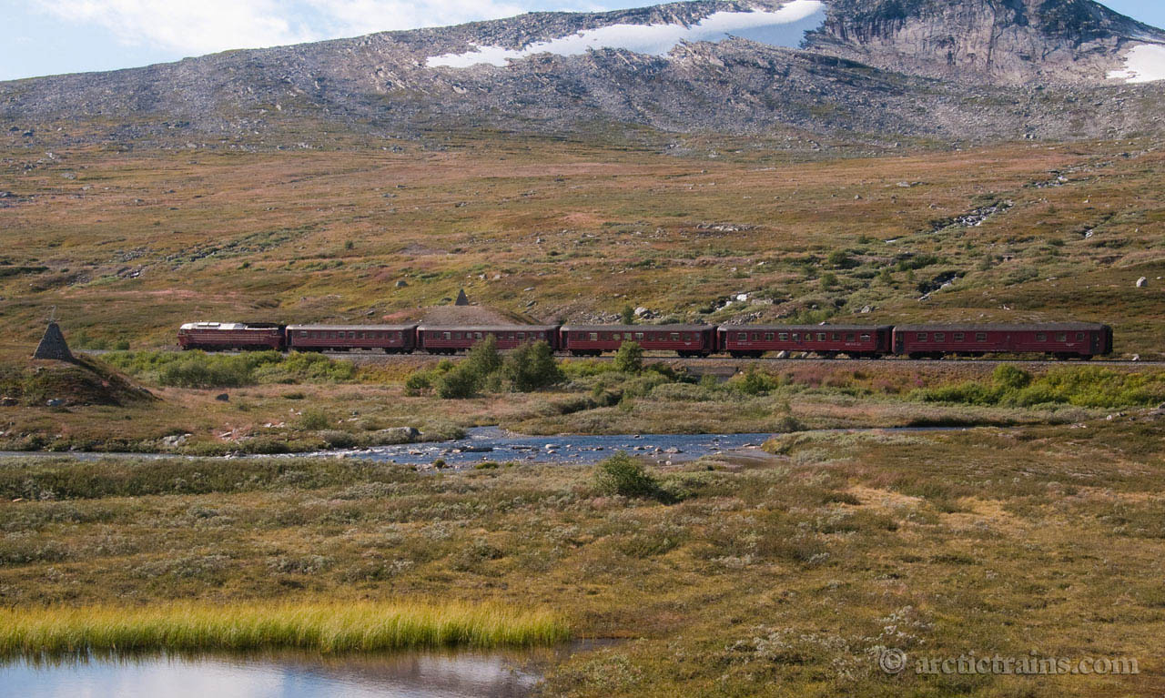 NSB Di 4.643 train 472 Saltfjellet Polar Circle 2009-08-24 by TS