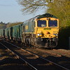 66620 6L65 Tunstead - Trowse Yd passes Hargham Rd LC. 19/4/17