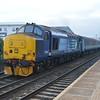 37423 / 37425 depart Brundall with 2J83 Lowestoft - Norwich 16/3/17