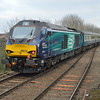 68003 / 68016 at Acle with 2P28 Norwich - Great Yarmouth 16/3/17