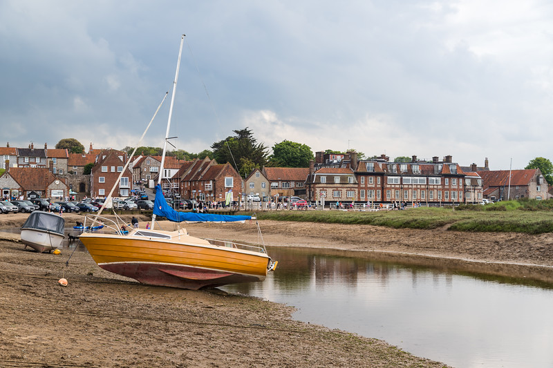 Boats out of the water at Blakeney