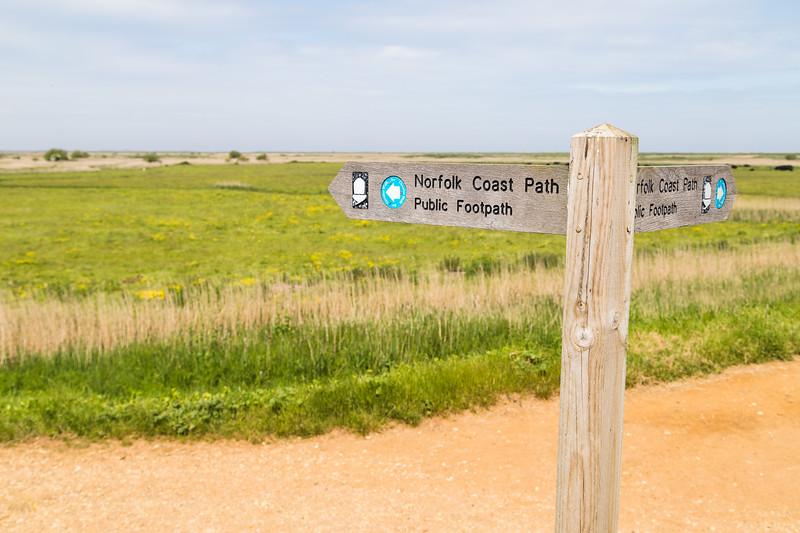 Norfolk coast path sign