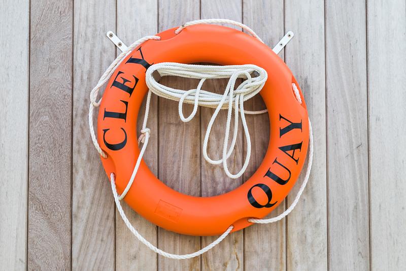 Life buoy at Cley Quay