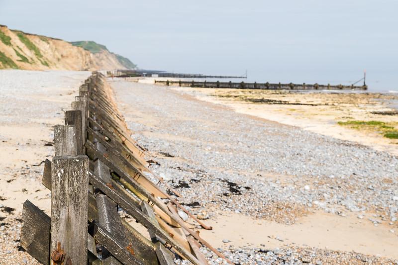 West Runton sea defences