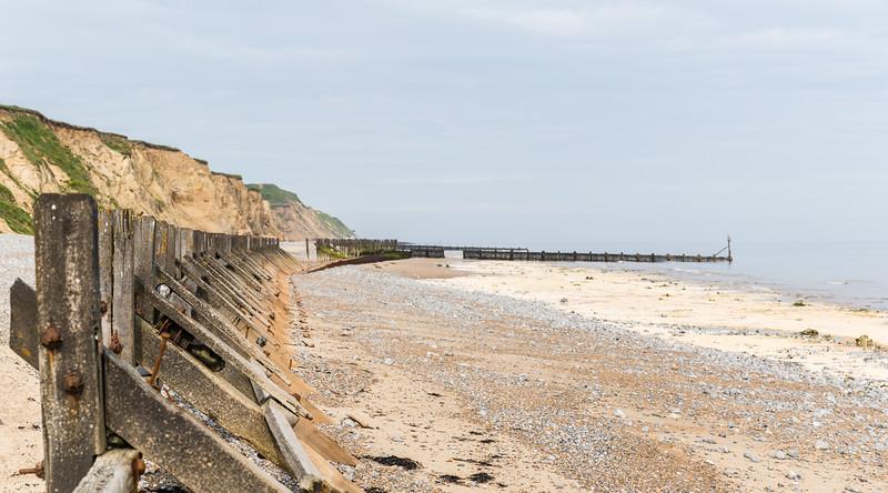 West Runton beach panorama
