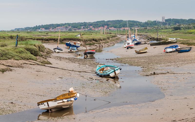 Boats moored at Blakeney