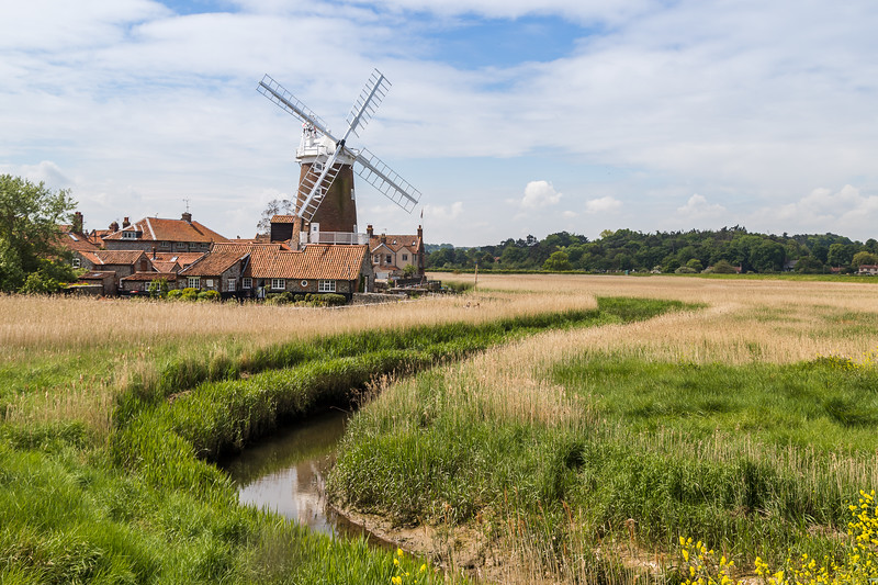 Channel leading to Cley Windmill