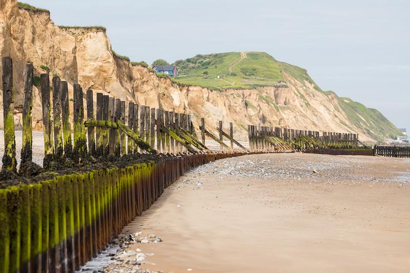 Sea defences protecting West Runton