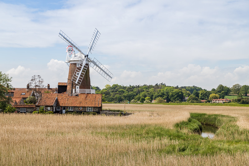 Cley Windmill behind the wetlands
