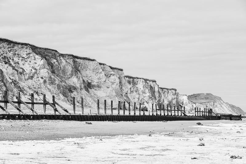 Sea defences at West Runton