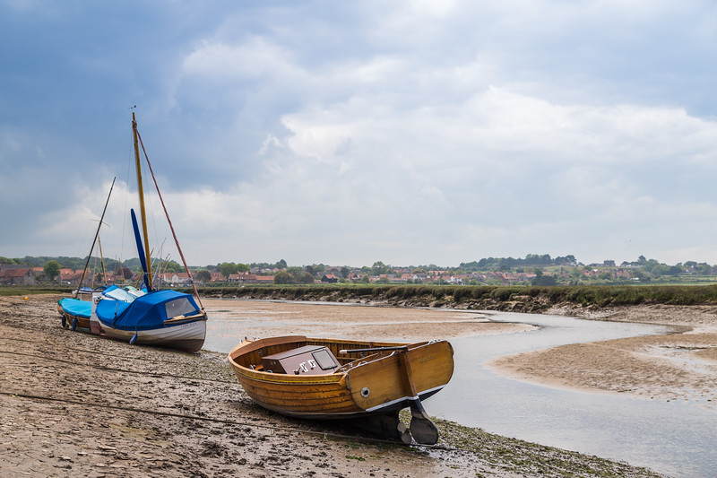 Wooden boats at Blakeney