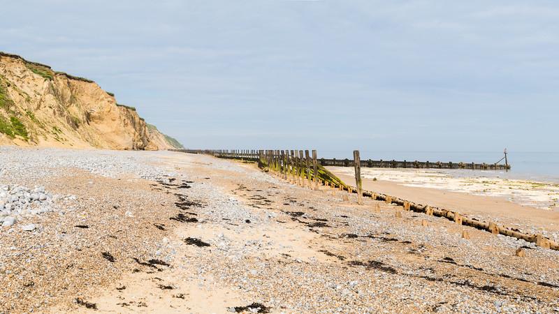 Wooden sea defences at West Runton