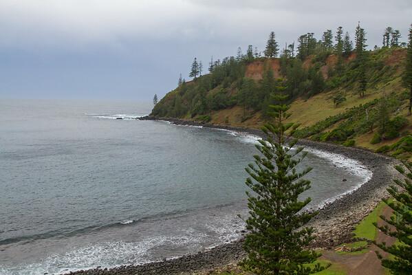 Ball Bay looking towards Collins Head, Norfolk Island