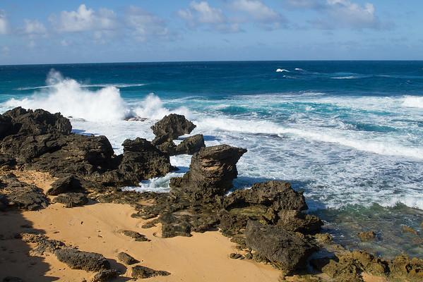 Churning ocean, Norfolk Island